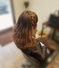 平原さんのヘアスタイル 編み込みカチューシャご希望でし Tredina