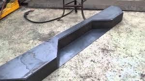 Building sierra / silvarado custom bumper - YouTube