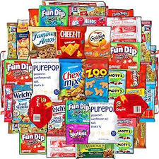 cookies chips candy snacks box 40 count variety care package gift
