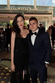 Exclusif - Marco Verratti et sa femme Laura Zazzara lors du dîner de gala  au profit de la Fondation PSG au Parc des Princes à Paris le 16 mai 2017. ©  Rachid Bel - Purepeople