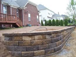 cinder block walls retaining wall