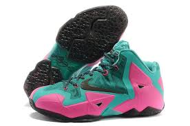 lebron shoes pink and black. nike lebron 11 pink green black basketball shoes | hot sale,outlet store sale, and