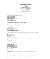 Download Resume Reference Template