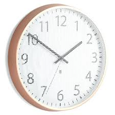 copper wall clock clocks uk bertha large coloured