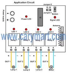 channel dc output remote controller for garden lamps and pond pump circuit diagram