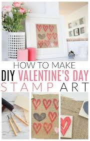 make your own heart stamped art for valentine s day