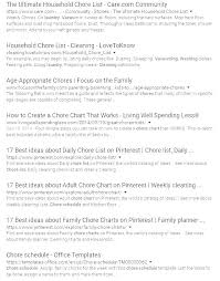 Household Cleaning Chore Chart Exhaustive Family Chore Chart Printables Family