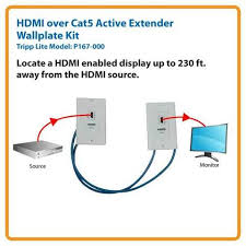 cat to hdmi wiring diagram cat image wiring diagram tripp lite p167 000 hdmi over cat 5 wall plate extension kit on cat5 to hdmi