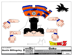 template of a dragon goku template dragon ball z paper toys