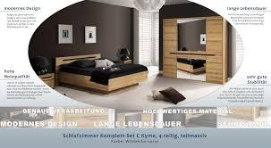 Schlafzimmer Komplett Set C Kyme 4 Teilig Teilmassiv Farbe Wildeiche Natur