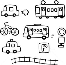 手書きの車と電車 イラスト素材 5516948 フォトライブラリー