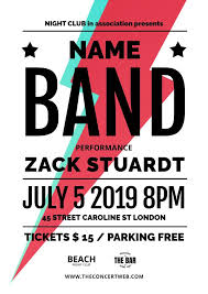 Concert Poster Design Music Concert Poster Templates