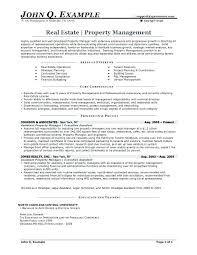 Manager Resume Sample Property Management Resume Examples Glamorous ...