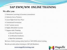 Sap Ewm Wm Online Training Ppt Download