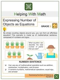objects as equations math worksheets