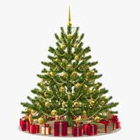 Christmas Tree 3d Models For Download Turbosquid