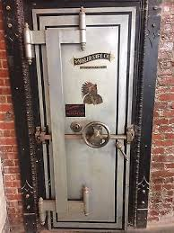 vine antique mosler bank vault doors