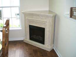 interior white corner fireplace on the corner connected by dark brown wooden floor fabulous