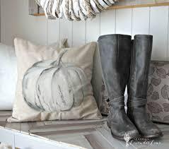 Pottery Barn Pumpkin Pillow Knock Off