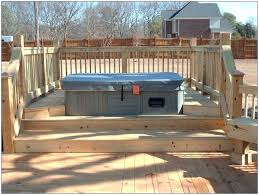 above ground pool with deck and hot tub. Deck Around Hot Tub Decks And More Tubs Designs . Above Ground Pool With