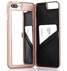mirror iphone 7 plus case. iphone 7 plus case,wetben hidden back mirror wallet case with stand feature and card iphone