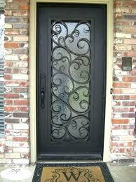 iron exterior doors wrought