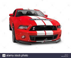 2013 Ford Mustang Shelby GT500 red sports car isolated on white ...