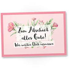 Dankedir Zum Abschied Alles Gute Rosa Kunststoff Schild Abschiedskarte Jobwechsel Geschenkidee Abschiedsgeschenk Kollegen Geschenk