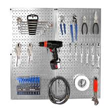 Wall Control 22-Piece Steel Pegboards Kit (Actual: 16-in x 32