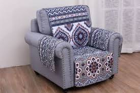 Discount Fashion Chair Loveseat Sofa Couch Quilted Furniture ... & arm chair Quilted Furniture Protector Boho Chic Medallion Saffron Adamdwight.com