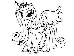 my little pony princess cadence coloring pages luna filly