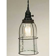 rustic glass pendant lighting. rustic half gallon caged mason jar open bottom industrial pendant light lamp gr glass lighting