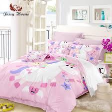 Unicorn Bedding Set Queen Size Pink Duvet Cover White Bed Set Bedclothes 3pcs US/AU/RU Size With Pillow Case M945