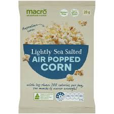 macro popcorn air popped light image