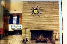 modern charlotte mid century modern fireplace