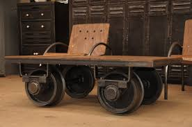 Mill Cart Coffee Table Industrial Cart Coffee Table