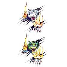 099 1ks Elegantní Vodotěsný Dočasné Tetování Zápěstí Krk Rameno Tetování Glitter Požární Tygr Těla Tetování 185 Cm 85 Cm