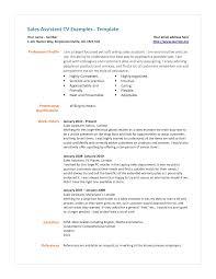 Sales Assistant Resume Therpgmovie