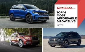 14 most affordable three row suvs of