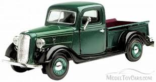 1937 Ford Pick-up Truck, Green - Showcasts 73233 - 1/24 Scale ...