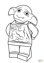 Lego Harry Potter Dobby Coloring Page Free Printable Coloring