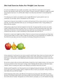 Diet And Exercise Rules For Weight Loss Success