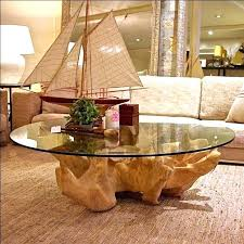 inspiration tree trunk table dining with glass top set theshampan base diy decoration uk lamp mat