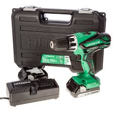 hitachi 18v battery. hitachi dv18dgl/jg 18v cordless combi drill inc 2x 2.5ah batts battery t