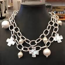 susan shaw 2 strand necklace