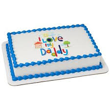 I Love My Daddy Edible Cake Topper Image A Birthday Place