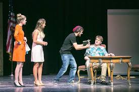 battle mountain high school players present flowers for algernon  townsend