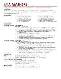 Esthetician Resume Template Download Sample Pics Examples