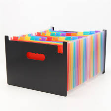 File holder box China 24 Pockets Expanding Files Folder Organizer Portable Business File Organizer Box Storage Bag A4 Size With Label Classify Aliexpress 24 Pockets Expanding Files Folder Organizer Portable Business File