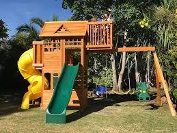 wooden garden play equipment for all